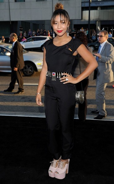 Zoe Soul hits the red carpet at the 'Prisoners' premiere in Beverly Hills on September 12, 2013