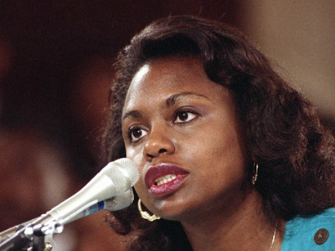 University of Oklahoma law professor Anita Hill testifies before the Senate Judiciary Committee on Capitol Hill in Washington, Oct. 11, 1991.