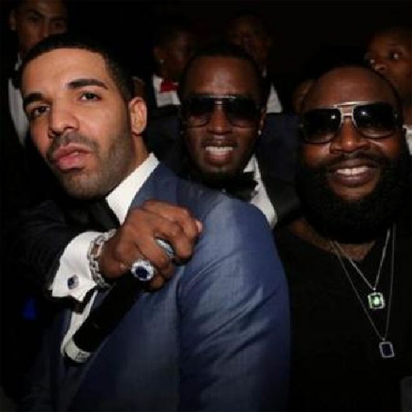 Drake, Diddy, Rick Ross at Diddy's New Year's Eve party in Miami