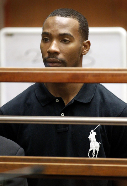 Javaris Crittenton appears in Los Angeles Superior Court for an extradition hearing August 31, 2011 in Los Angeles, California. The hearing wasin connection with a warrant from Atlanta charging him with murdering a 22-year-old woman.