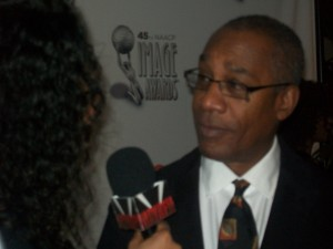 "Joe Morton (""Scandal"") one of the announcers of the 45th Annual NAACP Image Awards Nominees announcements. (Credit: Eunice Moseley)"
