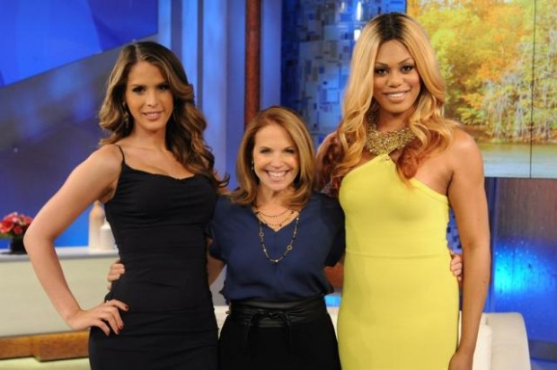 Katie Couric, Carmen Carrera and Laverne Cox