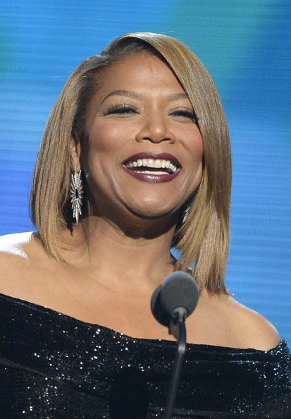Recording artist Queen Latifah speaks onstage during the 56th GRAMMY Awards at Staples Center on January 26, 2014 in Los Angeles, California