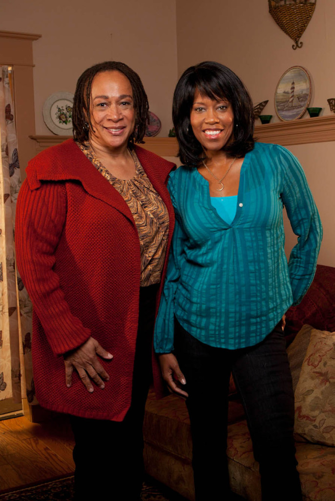 "S. Epatha Merkerson (L) and Regina King in the Lifetime Original Movie ""The Gabby Douglas Story"""