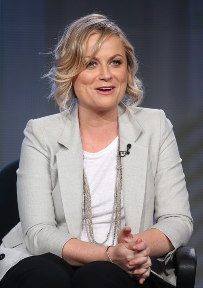 Actress/Executive Producer Amy Poehler speaks onstage during the 'Comedy Central - Broad City' panel discussion at the Viacom portion of the 2014 Winter Television Critics Association tour at the Langham Hotel on January 10, 2014 in Pasadena