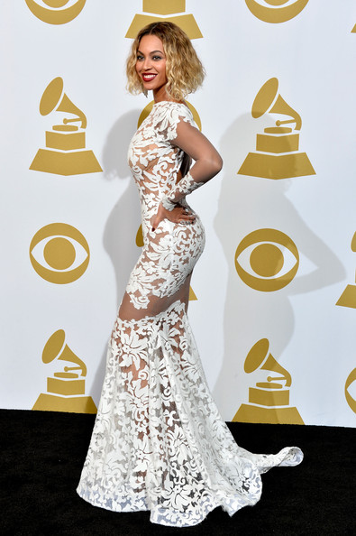 Beyonce poses in the press room during the 56th GRAMMY Awards at Staples Center on January 26, 2014 in Los Angeles, California