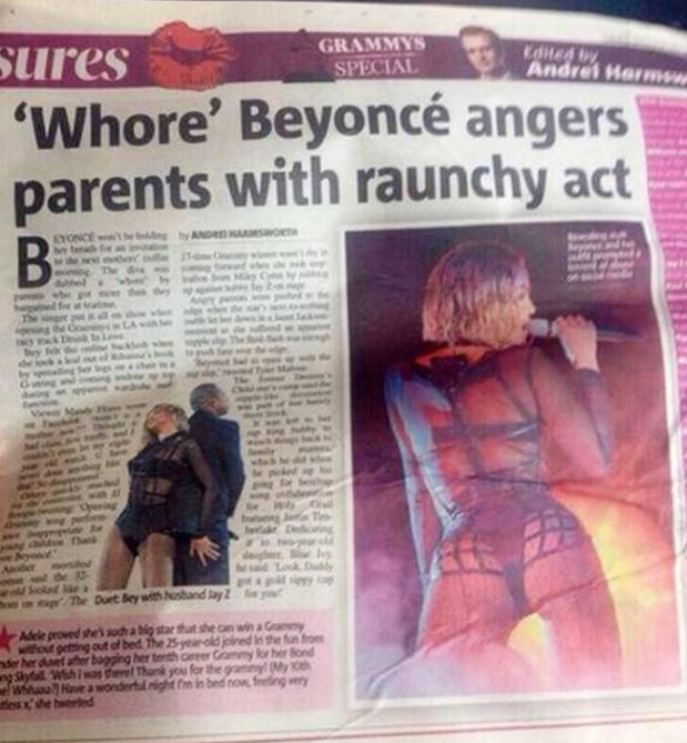 beyonce (whore headline)