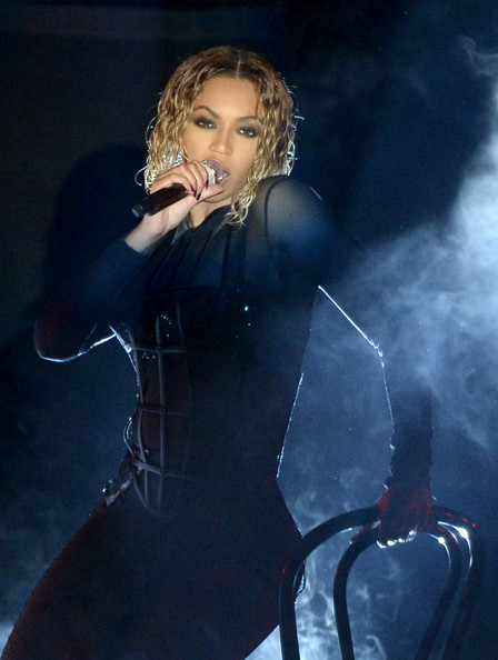 Singer Beyonce performs onstage during the 56th GRAMMY Awards at Staples Center on January 26, 2014 in Los Angeles
