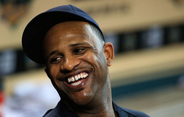C.C. Sabathia #52 of the New York Yankees waits in the dugout before the game against the Houston Astros at Minute Maid Park on September 28, 2013 in Houston, Texas