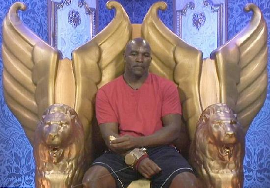 evander holyfield (in diary room - big brother)