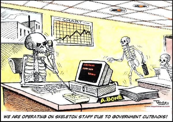 government cutbacks