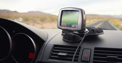 gps unit (on car dash)