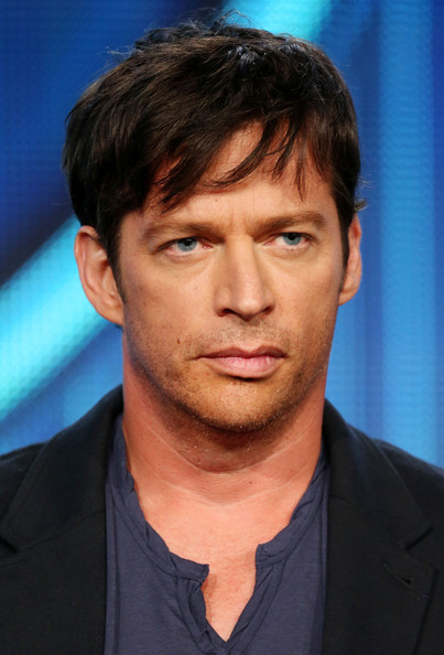 "Harry Connick Jr., of the television show ""American Idol"" speaks during the FOX portion of the 2014 Television Critics Association Press Tour at the Langham Hotel on January 13, 2014 in Pasadena, California"