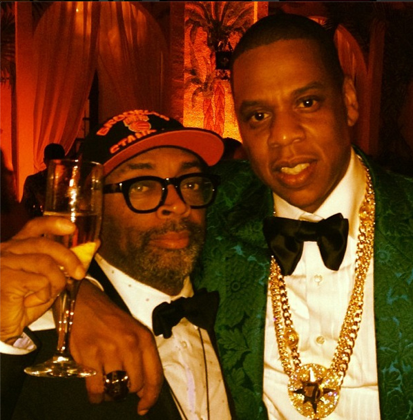 Spike Lee and Jay Z at Diddy's NYE bash