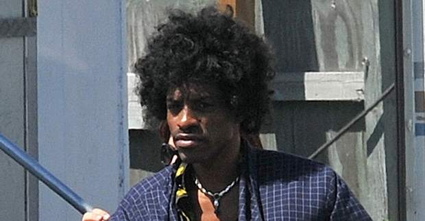 "Andre Benjamin as Jimi Hendrix in ""All By My Side"""