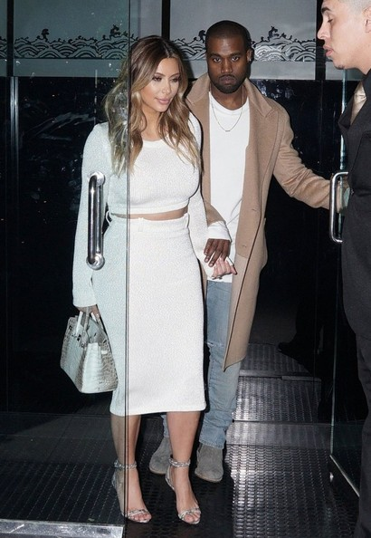 Kim Kardashian and Kanye West dine out at Mr Chow restaurant in Beverly Hills, California on January 12, 2014