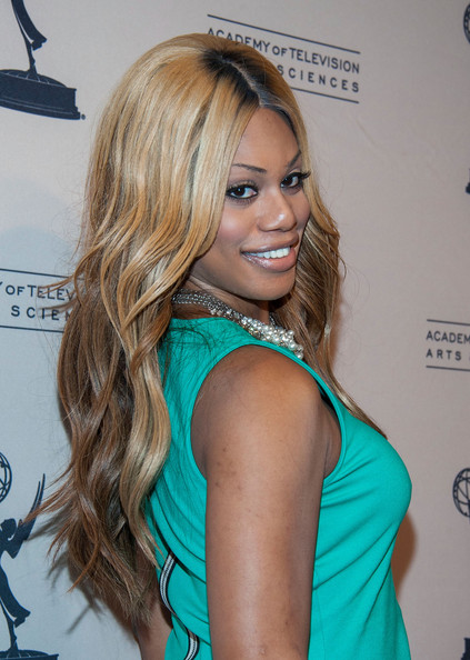 Actress Laverne Cox arrives at '10 Years After The Prime Time Closet - A History Of Gays And Lesbians On TV' at Academy of Television Arts & Sciences on October 28, 2013 in North Hollywood, California