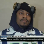 Marshawn Lynch Speaks Briefly at Seahawks' Super Bowl Media Day