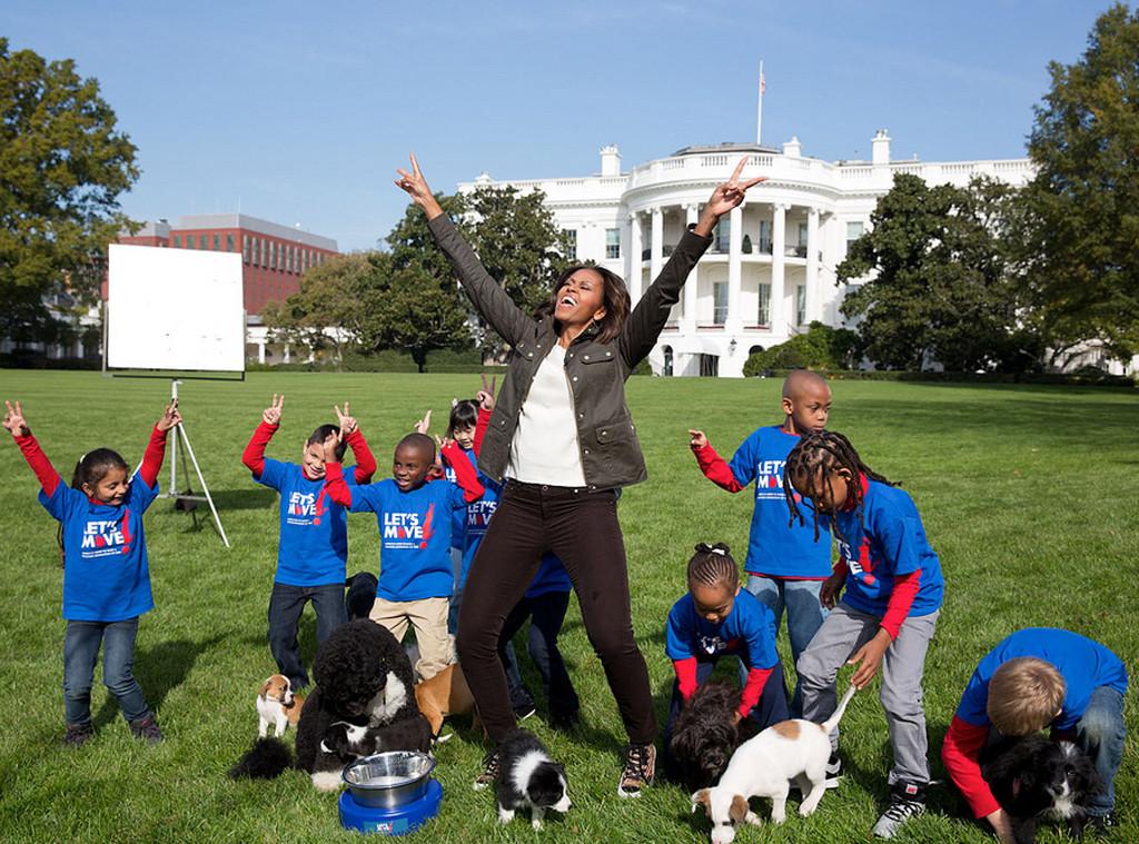 michelle obama puppy bowl