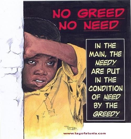 no greed no need