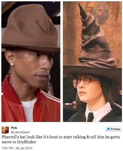 pharrell harry potter hat