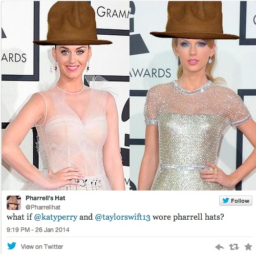 pharrell's hat on others