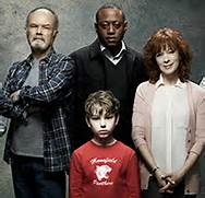 "The cast of the new ABC fantasy drama ""Resurrection"" (clockwise) Omar Epps, Francis Fisher, Landon Gimenez, and Kurtwood Smith."