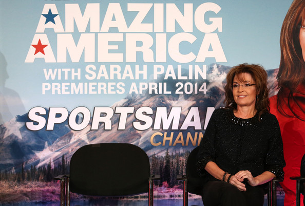 Sarah Palin and Sportsman Channel host breakfast during the 2014 Winter Television Critics Association tour at the Langham Hotel on January 10, 2014 in Pasadena, California