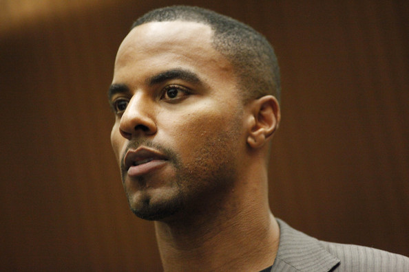 Former NFL safety Darren Sharper pleads not guilty to charges of allegedly drugging and raping a pair of women he met at a West Hollywood nightclub, in a Los Angeles Superior courtroom February 20, 2014 in Los Angeles, California