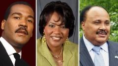 Dexter King, Bernice King and MLK III