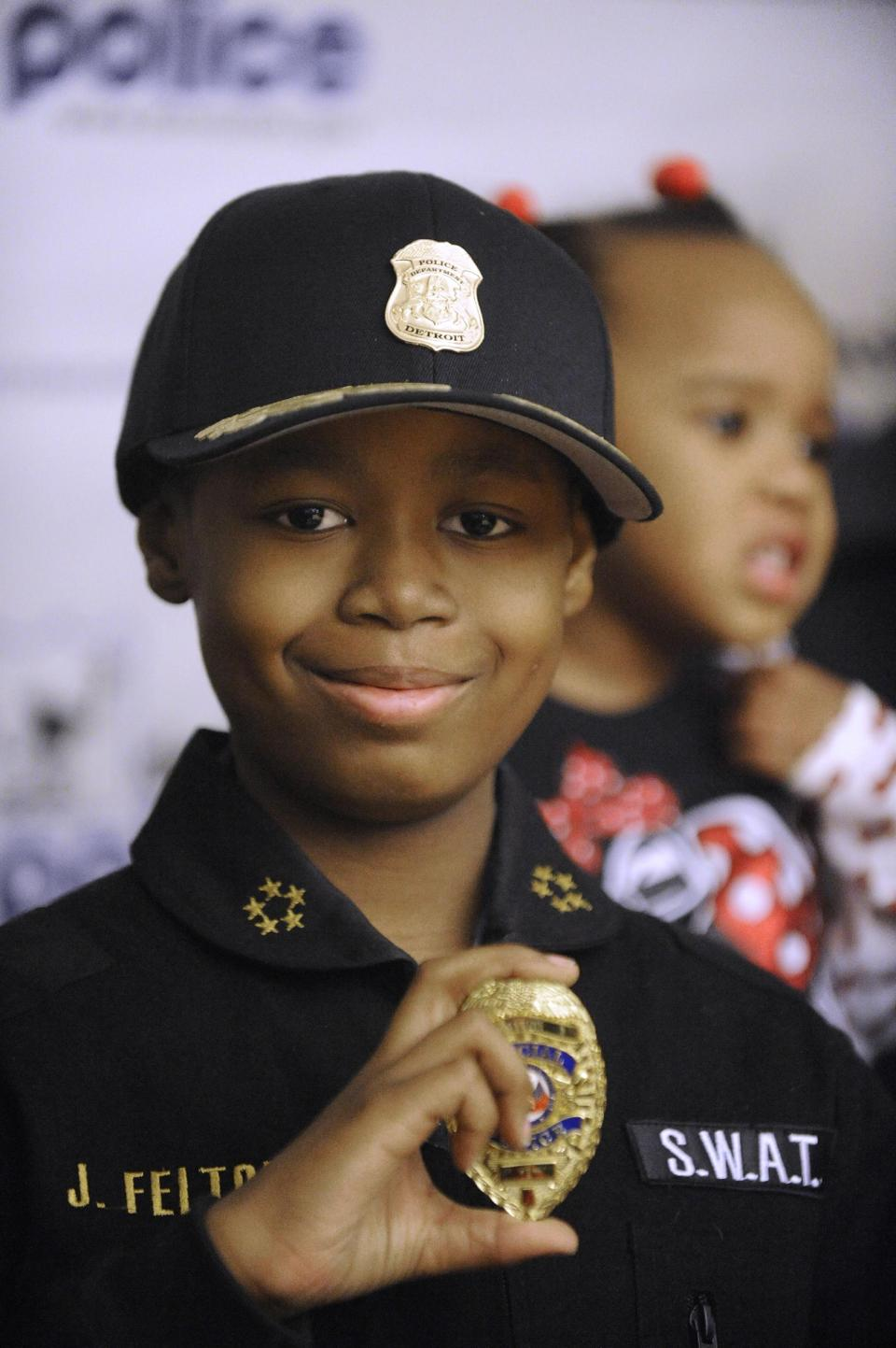 Jayvon Felton always wanted to be a police officer in his hometown, Detroit.