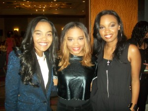 Singers The McCalin Sisters (L) Sierra and Laura are supporting China (R) for her NAACP Image Awards nomination at the luncheon held at the Loews Hotel in Hollywood. (Photo credit: Eunice Moseley)