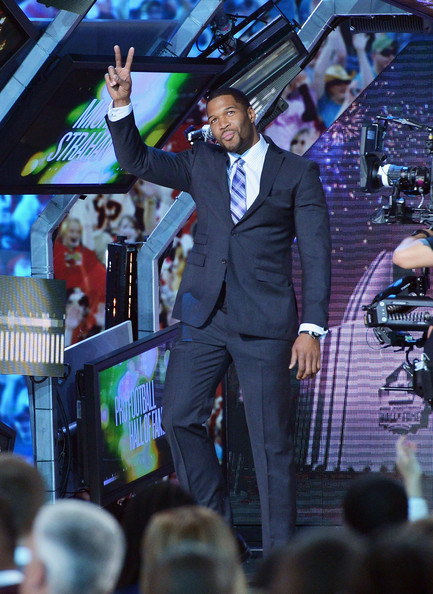 Michael Strahan is announced as NFL's Pro Football Hall of Fame member of class of 2014 at the 3rd Annual NFL Honors at Radio City Music Hall on February 1, 2014 in New York City