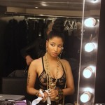 Nicki Minaj Takes Off Her Wig! Natural Hair Don't Care! (Pictures)