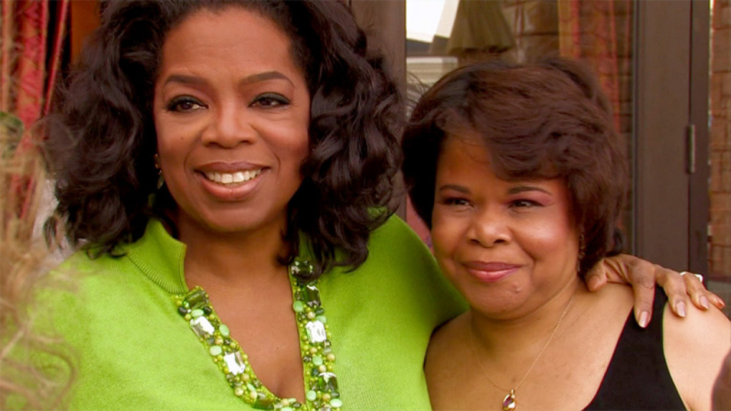 Oprah Winfrey and her half-sister Patricia Lee