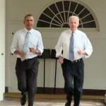 President Obama and VP Biden Go for a Jog…Then Hydrate (Watch)