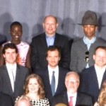 Pharrell and his Hat in 86th Academy Awards Nominees Photo