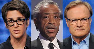 Rachel Maddow, Al Sharpton and Lawrence O'Donnell
