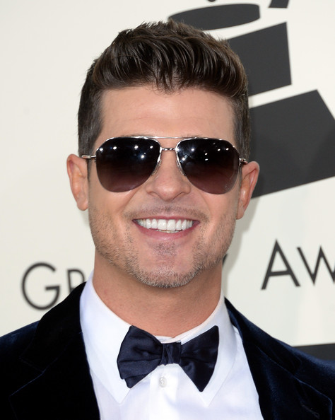 Singer Robin Thicke attends the 56th GRAMMY Awards at Staples Center on January 26, 2014 in Los Angeles