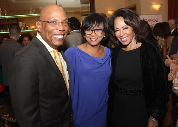 AAFCA Special Achievement honorees Paris Barclay and Cheryl Boone Isaacs with producer Debra Martin Chase