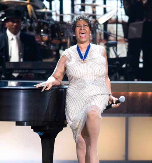 Aretha Franklin performs at BET Honors 2014 - Warner Theater, Washington DC