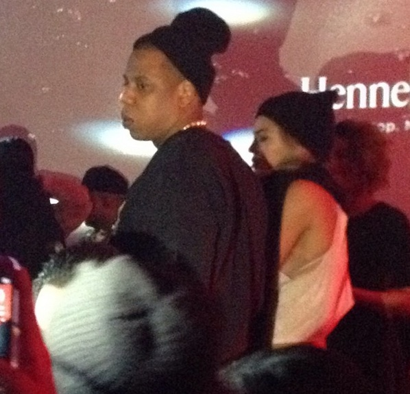 Jay and Bey attend Hennessy's post Super Bowl bash