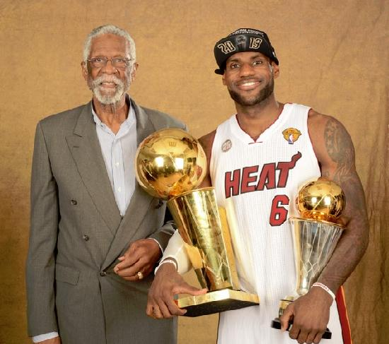 bill russell & lebron james