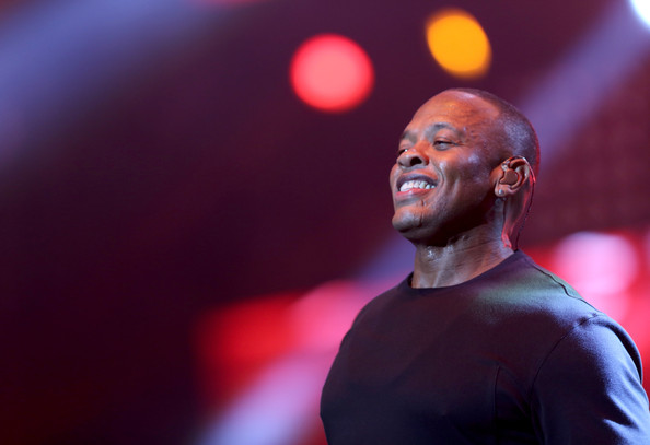 Rapper Dr. Dre performs during the Snoop Dogg, Kendrick Lamar, J.Cole, Miguel and SchoolBoyQ concert during the 2013 BET Experience at Staples Center on June 29, 2013 in Los Angeles, California