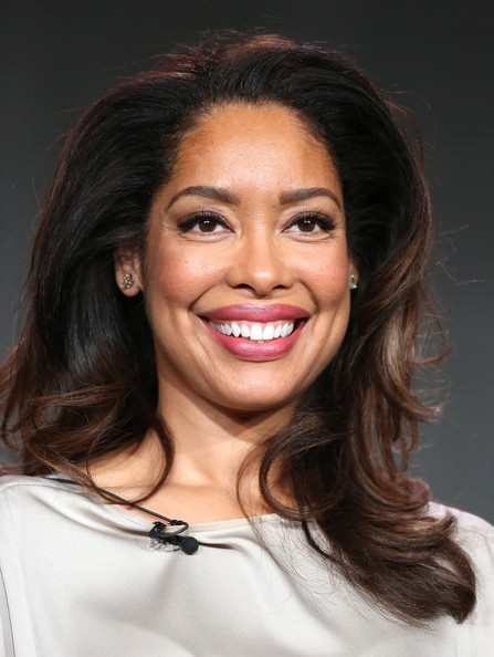 """Actress Gina Torres of the television show """"Suits"""" speaks during the NBC Universal portion of the 2014 Winter Television Critics Association Press Tour at the Langham Hotel on January 18, 2014 in Pasadena, California"""