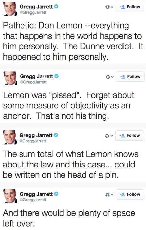 gregg jarrett's don lemon tweets