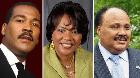 Dexter King, Rev. Bernice King and Martin Luther King III