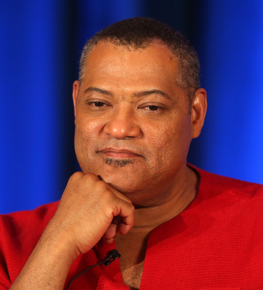 """Actor Laurence Fishburne of the television show """"Hannibal"""" speaks during the NBC portion of the Television Critics Association Press Tour at the Langham Hotel on January 19, 2014 in Pasadena, California"""