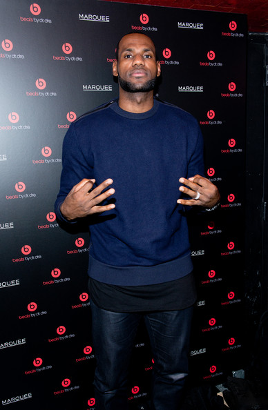 LeBron James attends Beats By Dr. Dre special event At Marquee New York on January 31, 2014 in New York City