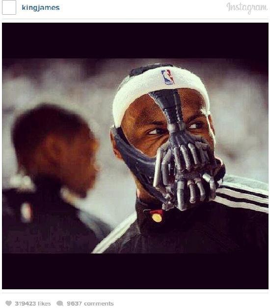 lebron james - 'bane mask'